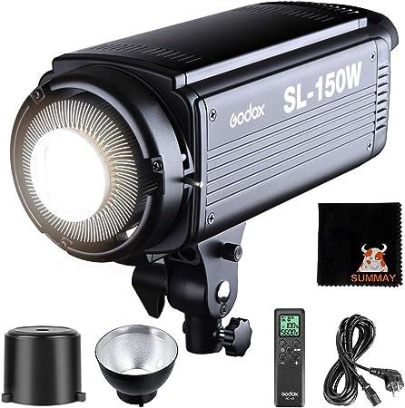 Todo para el streamer: GODOX SL-150W LED Luz Video 150W Foco Led 5600K Gran Potencia Bowens Mount para fotográfico Estudio Video Youtube Video Foto Studio(SL 150W LED Light)