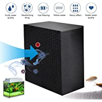 Foonee Eco-Aquarium Water Purifier Cubes,New Filtration Material Aquarium Filter, Reusable Activated Carbon Honeycomb Structure Filter, For Aquarium, Ponds, Water Tank Water Purification