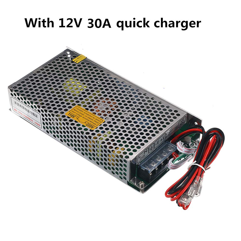 12Ah, 12.8V, 154Wh, Battery plus charger LiFePo4 Battery 12.8V Lithium-Ion Iron Phosphate 12V Leisure Solar Caravan