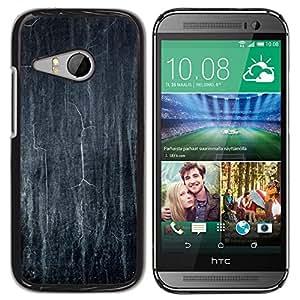For HTC One Mini 2 M8 Mini - Blackboard Chalk School Dark Black /Modelo de la piel protectora de la cubierta del caso/ - Super Marley Shop -