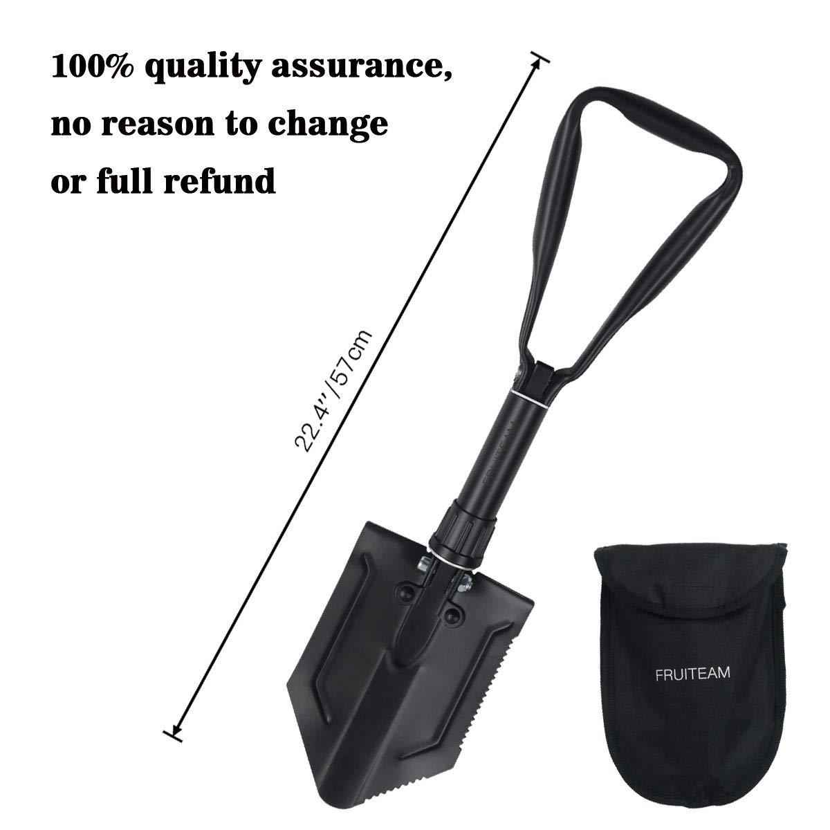 FRUITEAM Folding shovel with triangle handle Military Folding Handle Shovel