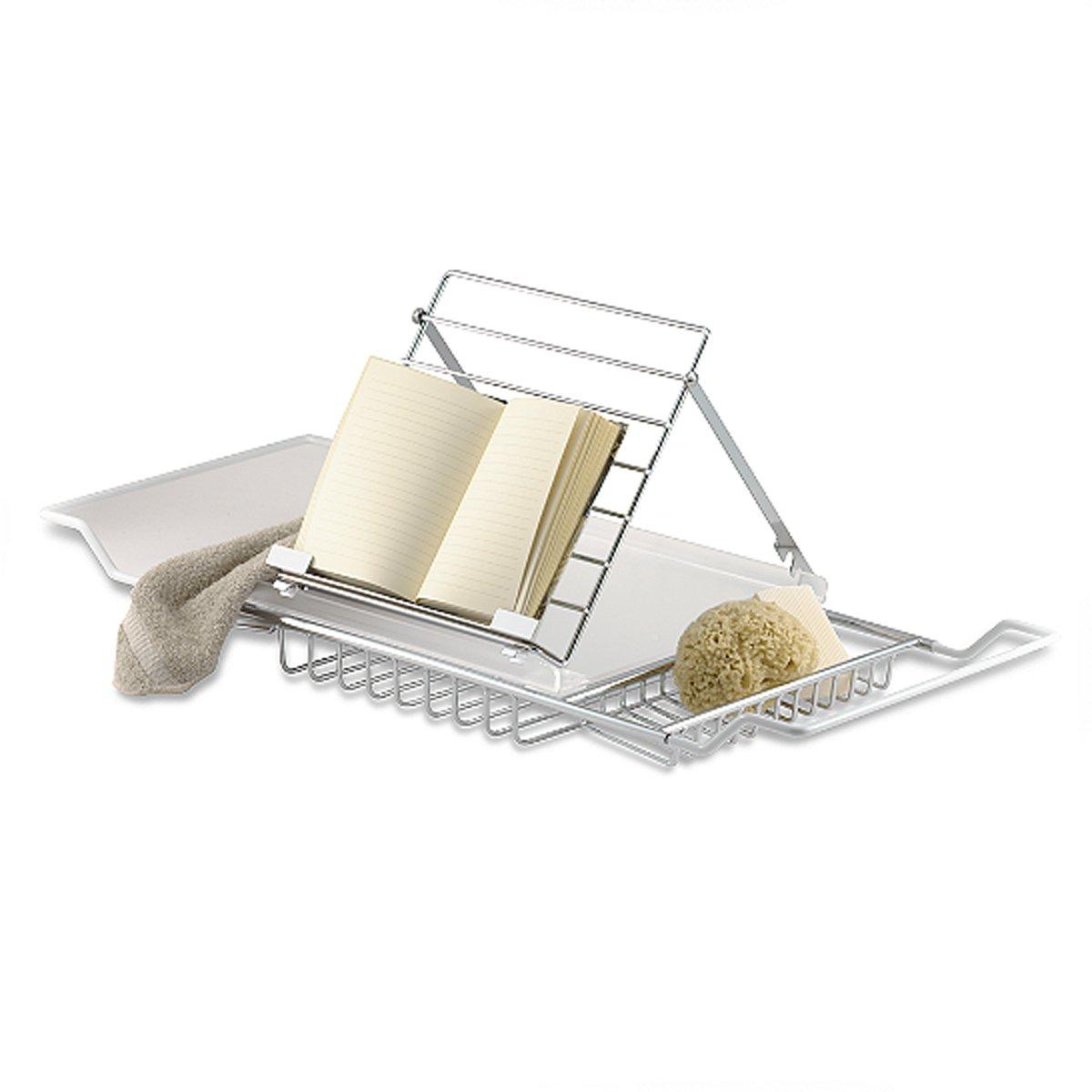945b721512f Amazon.com  Jumbo Chrome Plated Bathtub Caddy  Home   Kitchen