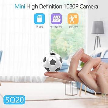 Opinión sobre Camaras Espias Ocultas 1080P Cámara de Seguridad Portátil Small HD Nanny CAM con detección de Movimiento para el hogar y la Oficina (32x33x36mm, fútbol)