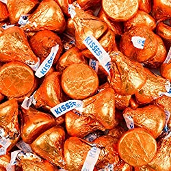 Orange Hershey's Kisses 4.16lb (Free Cold Packaging)