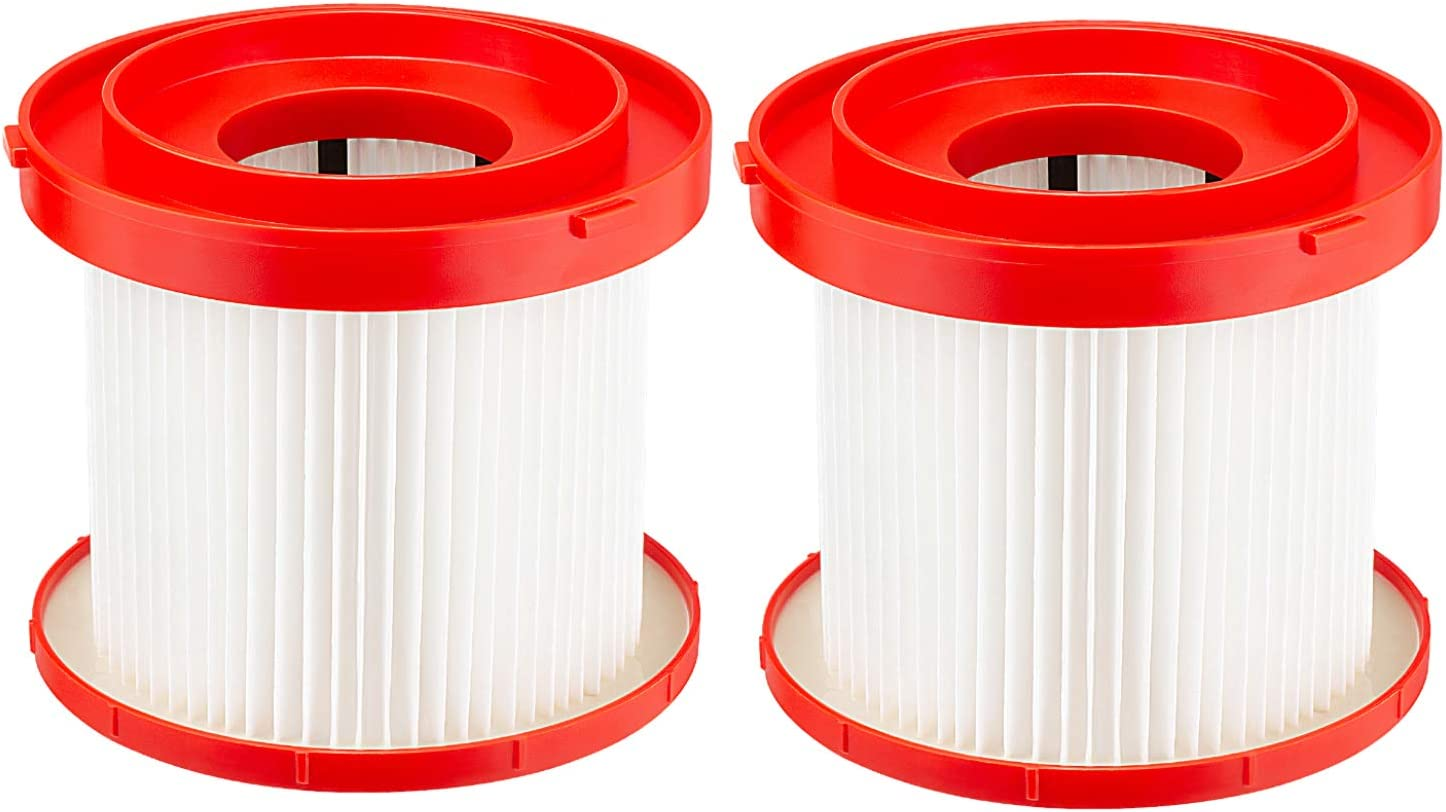 Cabiclean 2 Pack Wet Dry Vacuum HEPA Filter Replacement Compatible Milwaukee 49-90-1900