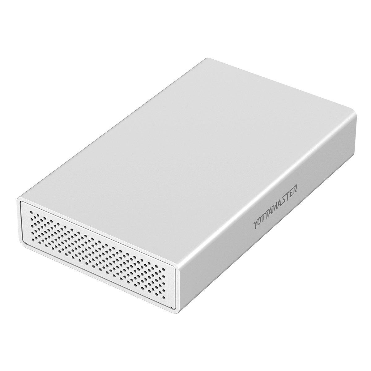[アルミニウム] Yottamaster 4TBポータブル外付けハードドライブ、USB3.1 Gen2 10Gbps高速転送テクノロジタイプCポートBT400   B074WLBKD9