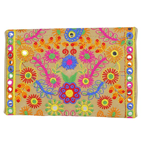 Veg Sling foldover Clutch Ethnic Bag Banjara Bag Embroidered Cross Handmade Body Cute Purse Color IF7wq0Rx