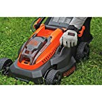 "BLACK+DECKER 40V MAX Cordless Lawn Mower, 16-Inch (CM1640) 9 Height Adjust- 6 settings, with a height of cut between 1-1/10"" and 3-1/10"" Includes (2) 40V Max Lithium Batteries Folding handles for easy & convenient storage"