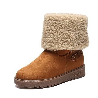 Cooljun Stiefel Damen Boots Frauen Wildleder Stiefeletten