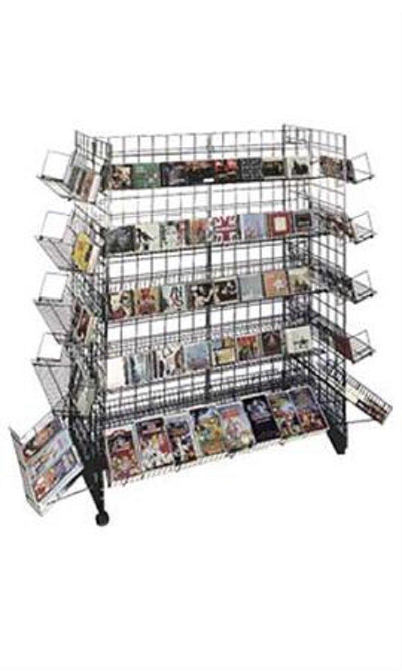 Black CD/DVD Grid Gondola Unit 48'' x 24'' x 66''