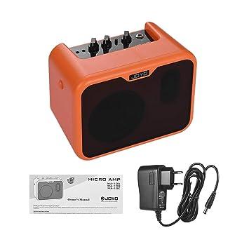 Muslady JOYO MA-10A Mini Altavoz Amplificador de Guitarra Acústica Portátil 10 vatios Amperios Canales Duales Normales/Brillantes con Adaptador de ...