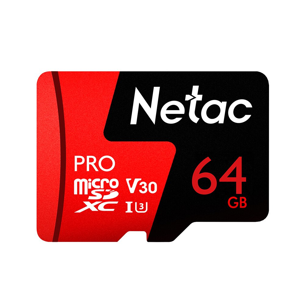 Docooler Netac 64GB Pro Micro SDXC TF Memoria Tarjeta Datos Almacenamiento V30 / UHS-I U3 Alto Velocidad hasta 98 MB/s