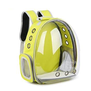 Bolsa para Gatos Space Capsule Pet Pet out Carrito para Mascotas Cat Rabbit Travel Bag Bolsa para Mascotas (Color : Amarillo): Amazon.es: Deportes y aire ...