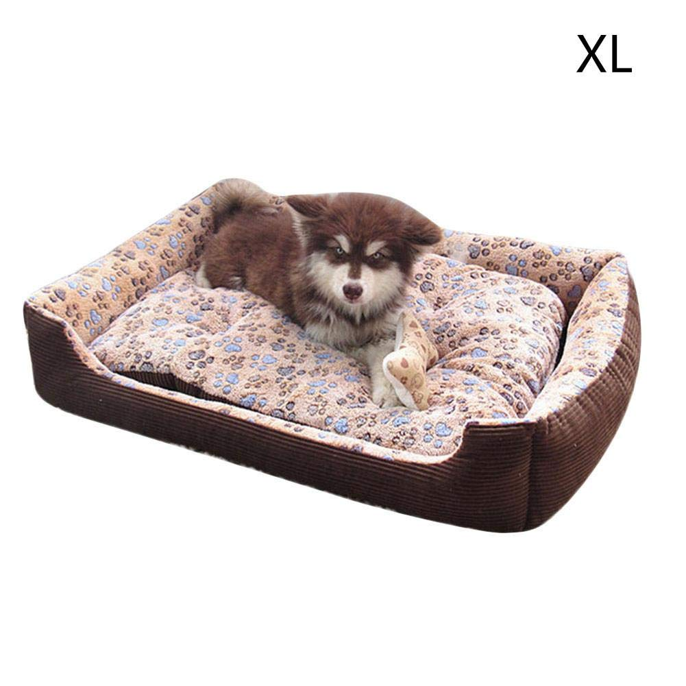 Brown XL Brown XL Vivicute Pet Bed Four-Season General Purpose Pet Mat Dogs and Cats Supplies Home Decoration