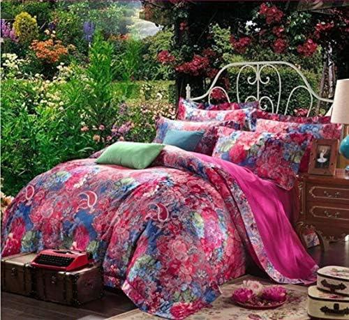 寝具布団カバー 4セットbeddingthe新しい寝具4セット、ヨーロッパ綿4セット、ベッドサイズツイン、クイーンに適し キルト掛け布団寝具セット (サイズ : Queen)