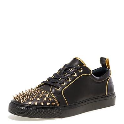 ea7f31812fa Amazon.com   Jump Newyork Men's ZEEK Spiked Low Top Sneaker ...