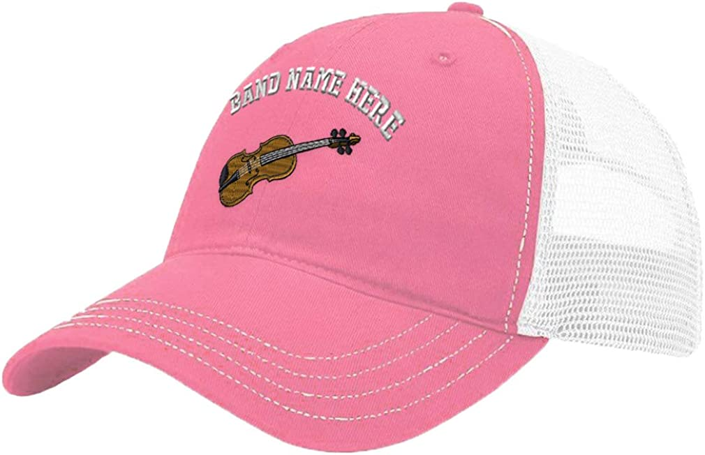 Custom Trucker Hat Richardson Violin Music A Embroidery Band Name Cotton Snaps