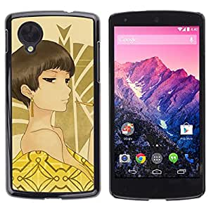 Stuss Case / Funda Carcasa protectora - Sexy Woman Brown Eyes Bare Shoulders Art - LG Google Nexus 5 D820 D821