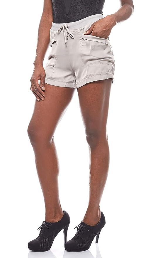 864574416d Aniston leicht glänzende Hose Damen Shorts Sommer Grau: Amazon.de:  Bekleidung