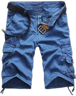 Xinwcang Cortos Pantalones Cargo Hombre Casual Suelto Chino Bermudas Corto Laboral Outdoor Deporte Patalón Shorts hasta la… 0ySWyPbkJ2