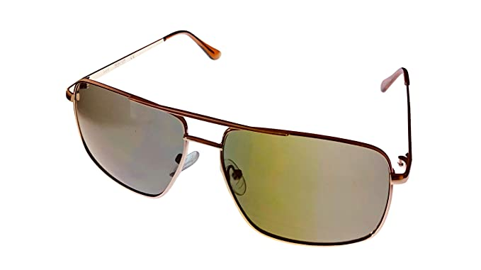 845ebc2b4c Kenneth Cole Reaction KC1369 32N - anteojos de sol rectangulares para hombre  (metal),