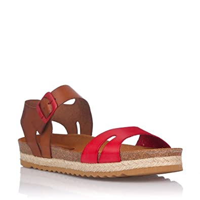 Sandals Damen, Rot - Rot - Größe: 40
