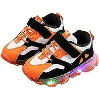 Scarpe LED per Bambini - Ragazzo e Ragazza Lampeggiante Sneaker Moda Colore Cuciture Scarpe Casual Luminosi Scarpe Sportive Bassa Scarpe Piatto