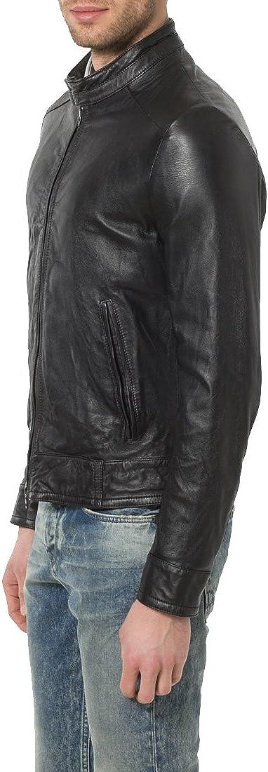 Mens Genuine Lambskin Leather Jacket Slim Fit Biker Motorcycle Jacket X154