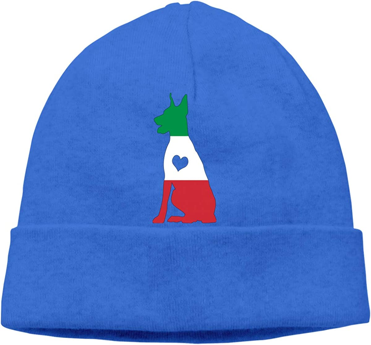 BF5Y3z/&MA Italian Flag Adore Dobermans Dog Beanie Hat for Men Women,Stretch Knitted Hat Skiing Cap