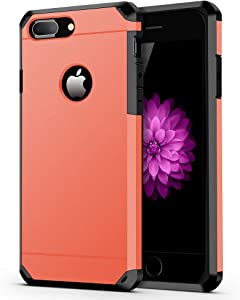 ImpactStrong iPhone 8 Plus Case/iPhone 7 Plus Case Heavy Duty Dual Layer Protection Cover Heavy Duty Case Compatible with iPhone 7 Plus / 8 Plus - Coral