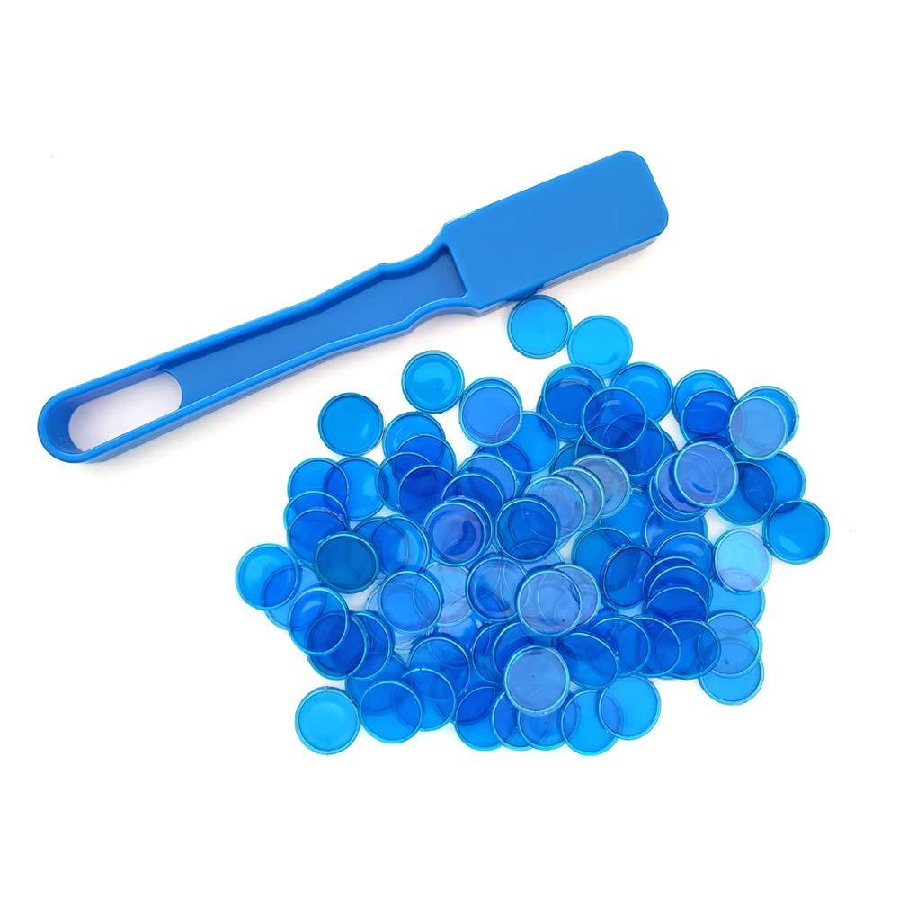 ペンギンクレートビンゴ磁気棒 マグネットチップ100個付き ブルー