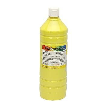 Plakatfarbe Flasche sonnengelb matt 1 Liter / 1000ml flüssig ✓ 1l ...