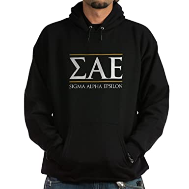 5ac459eb46f5 CafePress Sigma Alpha Epsilon Fraternity Letters and Name in Pullover Hoodie