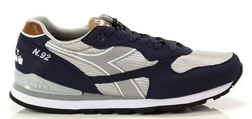 diadora Hombre, N 92 II, DE Ante/Nylon, Zapatillas de Deporte, Azul: Amazon.es: Zapatos y complementos