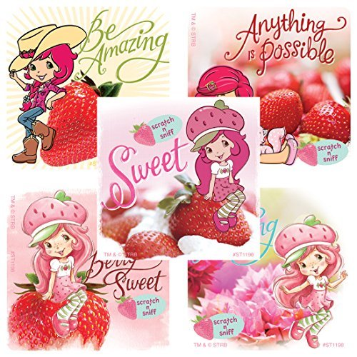 Scented Strawberry Shortcake Sticker - Prizes and Giveaways - 50 per (Scented Strawberry)