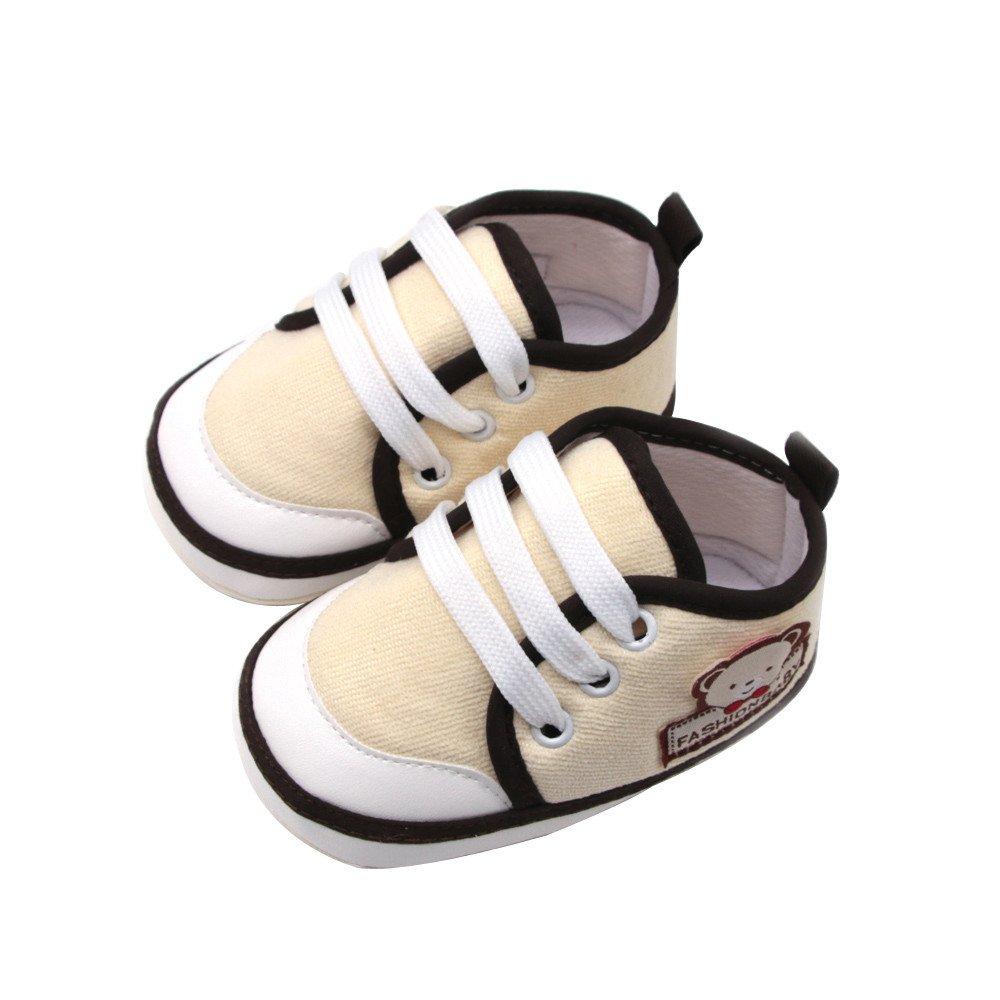 ❤ Zapatos Suaves recién Nacidos, Zapatos sólidos Suaves de los Muchachos de los bebés Zapatos Bordados de la Letra del Oso Absolute: Amazon.es: Ropa y ...