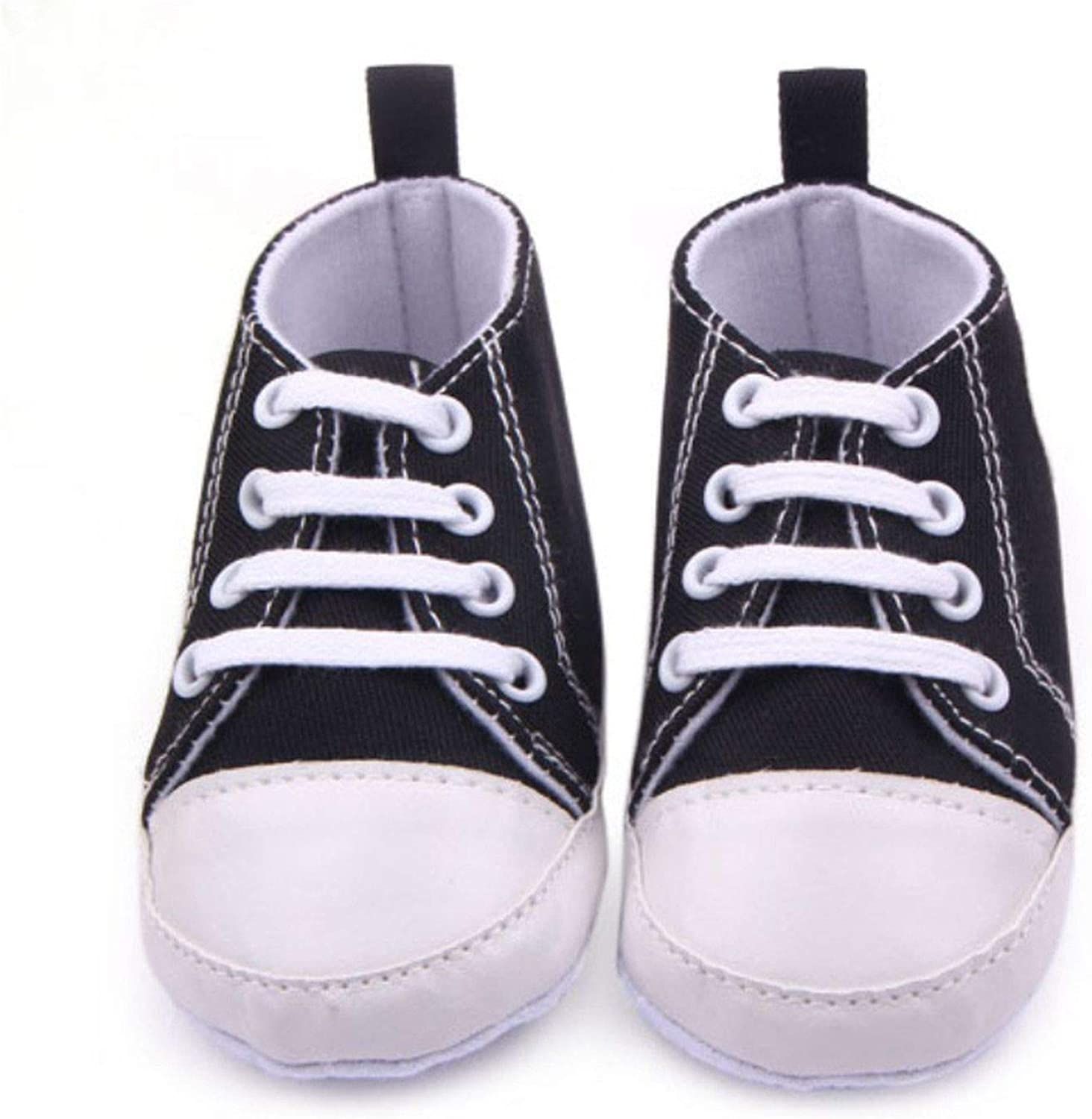 Baby Canvas Sneakers Newborn Baby Boys Girls First Walkers Shoes Infant Toddler Soft Sole Anti-Slip Baby Shoes