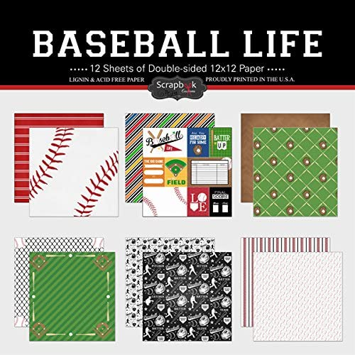 Scrapbook Customs Themed Paper Scrapbook Kit Baseball Life