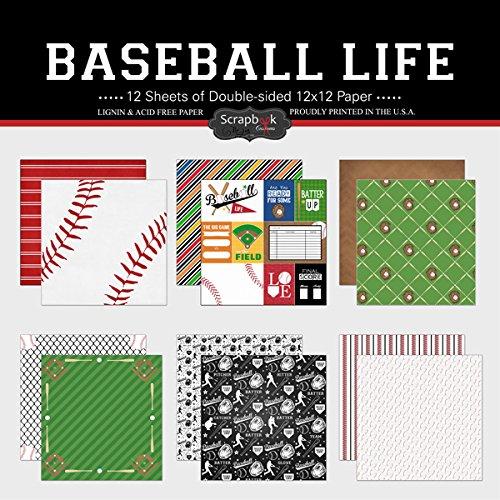Scrapbook Customs Themed Paper Scrapbook Kit Baseball Life Inc 37574