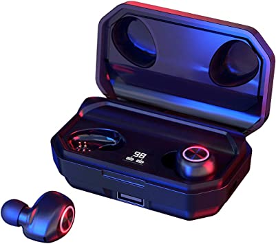"144 Horas de Reproducción con Nuestros Auriculares Inalámbricos, con Bluetooth 5.0 Auriculares Estéreo e Inalámbricos ""in-Ear"" con Estuche de Carga Rápida (Micrófono Incorporado, 3D Estéreo): Amazon.es: Electrónica"