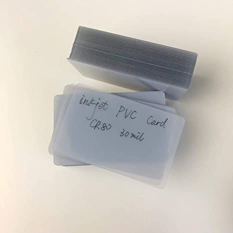 Amazon.com: Tarjeta de plástico transparente de PVC para ...