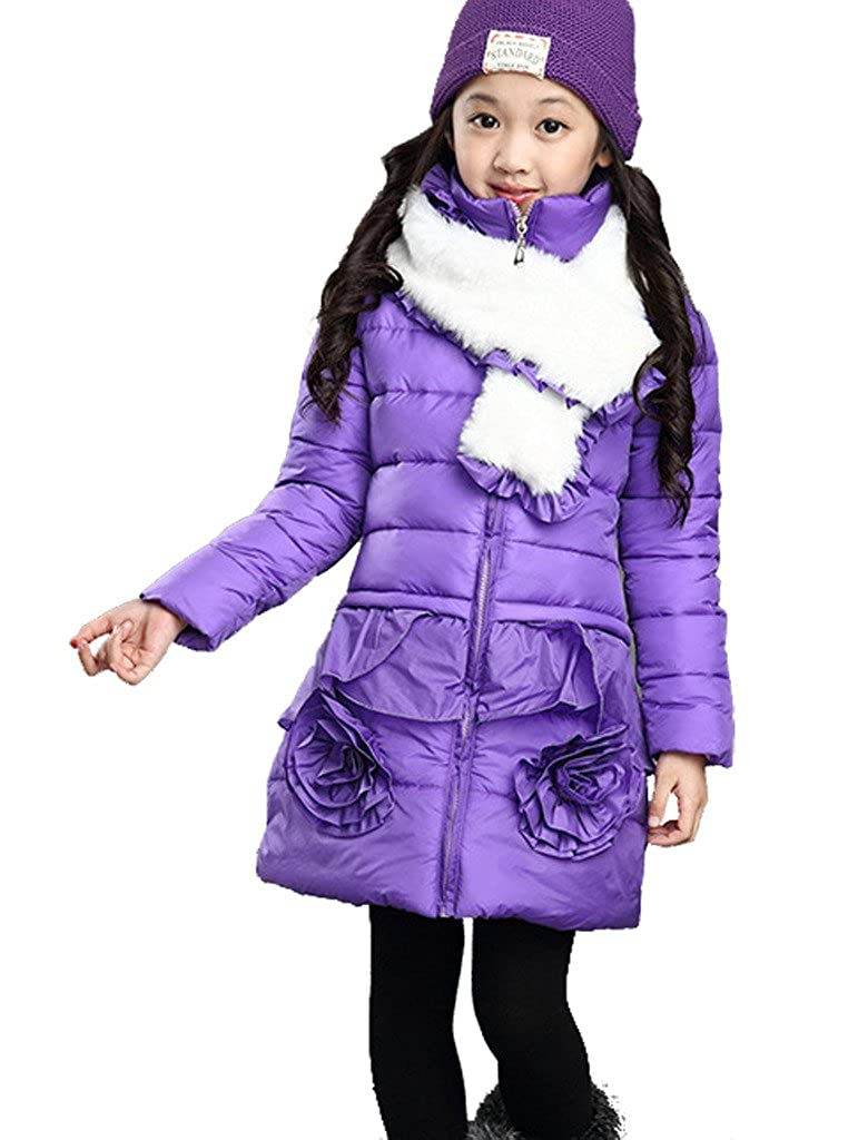 Dolpind Big Little Girls Thickened Puffer Bubble Winter Jacket Warm Coats