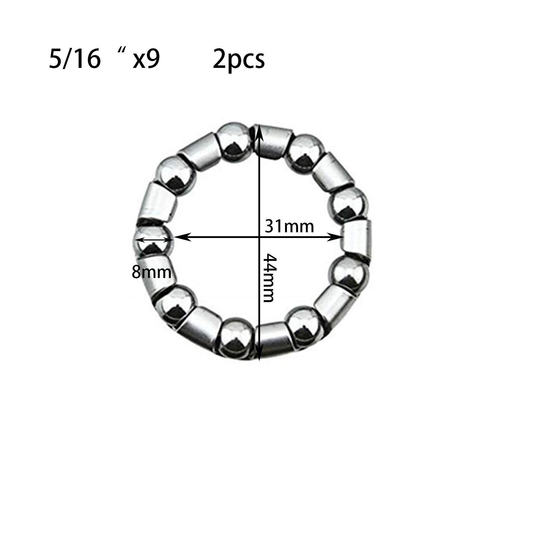 "CAGES 9 x BALL 5//16/"" inch PAIR BMX 1 PIECE CRANK BOTTOM BRACKET BEARING CAGE"