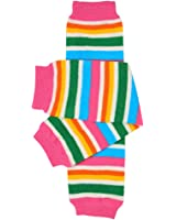 juDanzy retro bright stripe baby girls and toddler leg warmers
