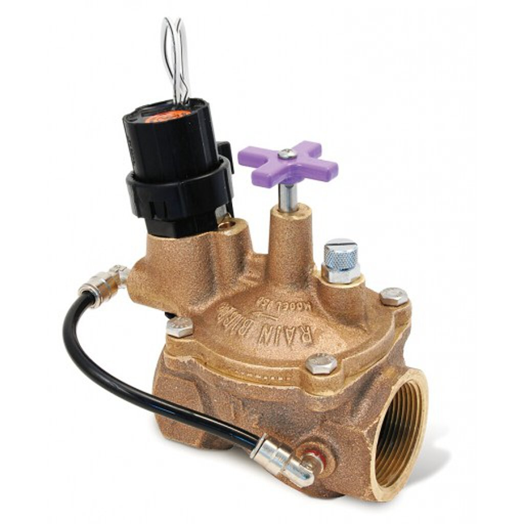 Rainbird Brass EFB-CP Reclaimed Series Electric Contamination Proof Valve, 1''/24 VAC