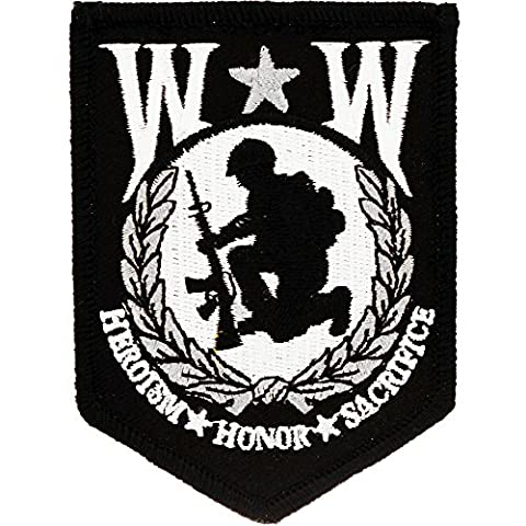 Wounded Warrior Shield Patch Military Gifts Patches for Jackets Hats Vests - Military Vet Patch