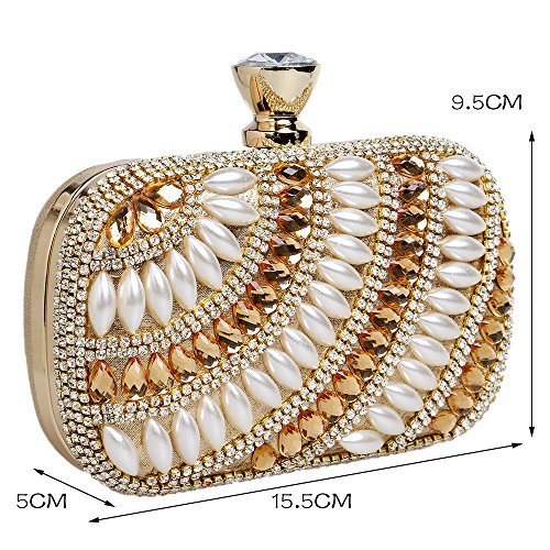 Bag Silver Gold 5A Shoulder Evening Bag GXYCP Wedding Party Zircon Wallet For Clutch For Women 4PgRn6q