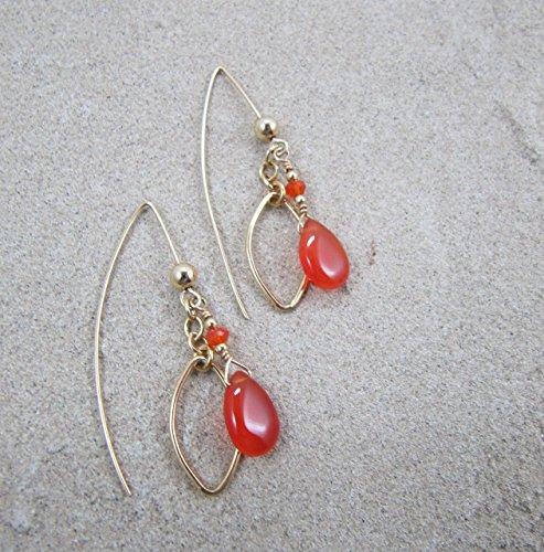 - Carnelian Gold Fill Earrings