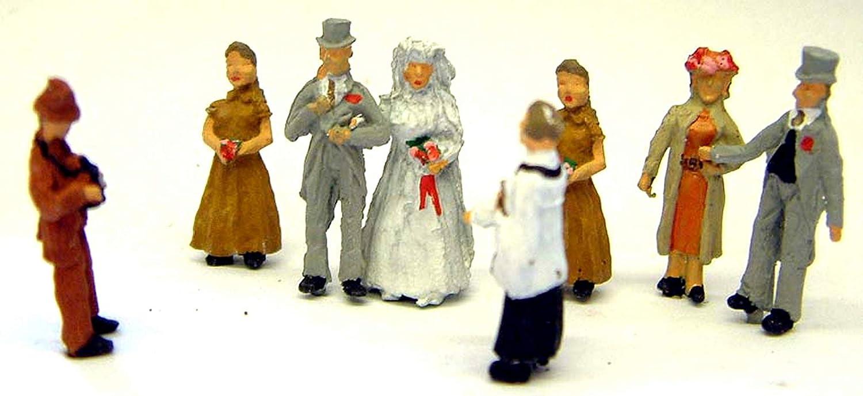Langley Models White Wedding Scene OO Scale Metal Model PAINTED F74p