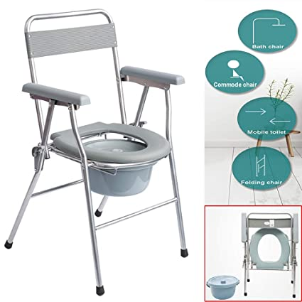 Commode Chair ALY® Asiento del Inodoro/WC Plegable para ...
